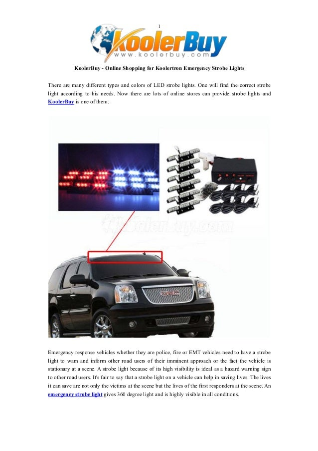 1 KoolerBuy   Online Shopping For Koolertron Emergency Strobe Lights There  Are Many Different Types And ...