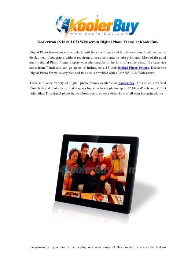 Koolertron 15 Inch LCD Widescreen Digital Photo Frame at KoolerBuy