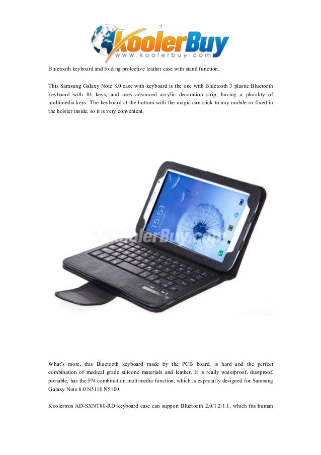 Koolertron Separable Bluetooth keyboard PU Leather Case for