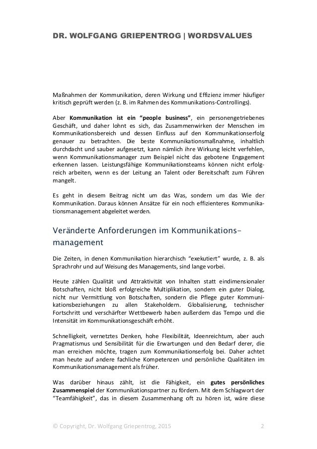 Kooperation im Kommunikationsmanagement