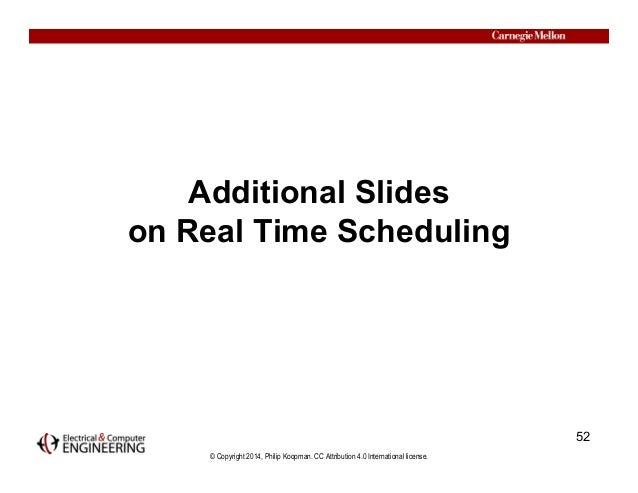 © Copyright 2014, Philip Koopman. CC Attribution 4.0 International license. Additional Slides on Real Time Scheduling 52