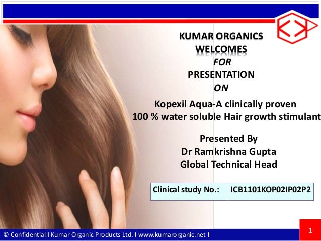 © Confidential I Kumar Organic Products Ltd. I www.kumarorganic.net I KUMAR ORGANICS WELCOMES FOR PRESENTATION ON 1 Presen...