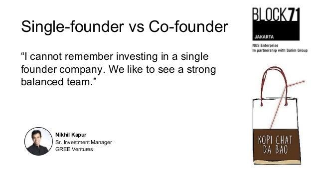 single founder vs co founder