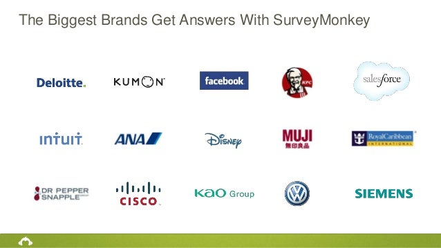The Biggest Brands Get Answers With SurveyMonkey