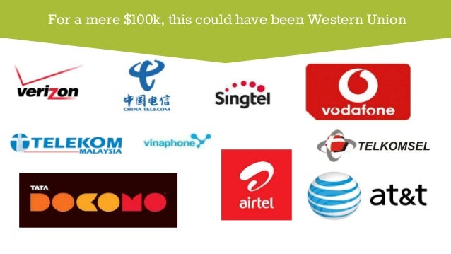For a mere $100k, this could have been Western Union