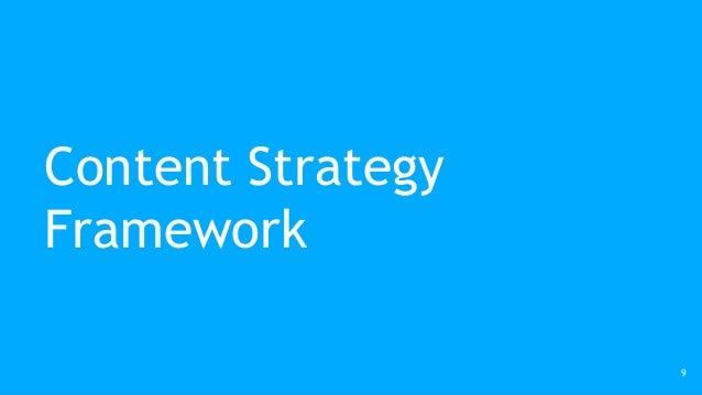 Content Strategy Framework 9