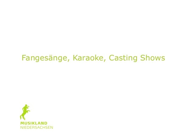 Teilkulturen des Singens: Fangesänge, Karaoke, Casting Shows Prof. Dr. Reinhard Kopiez HMTM Hannover
