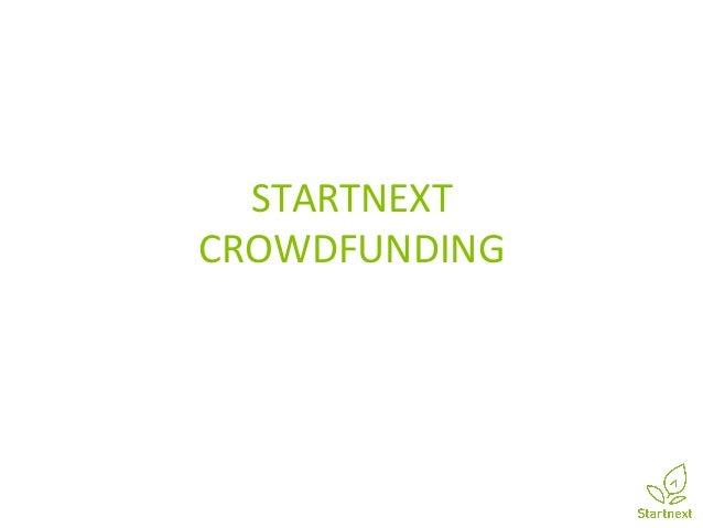 STARTNEXT  CROWDFUNDING