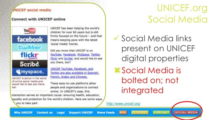 Becoming a (More) Socialized Organization: 10 Tips for UNICEF to Tap the Social Web 04 March 2011