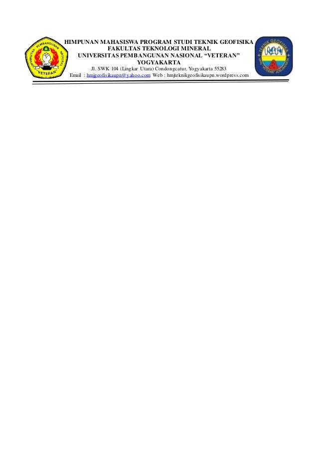 Kop Surat Himpunan Mahasiswa Program Studi Teknik Geofisika