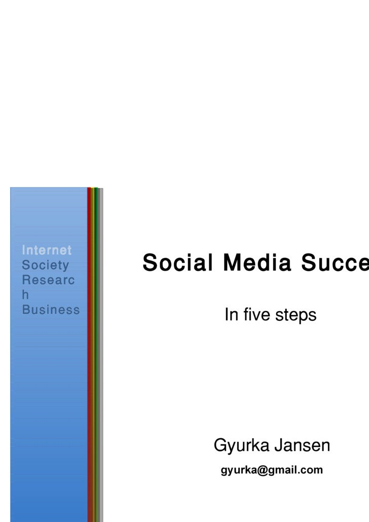 Social Media Success In  five  steps [email_address]