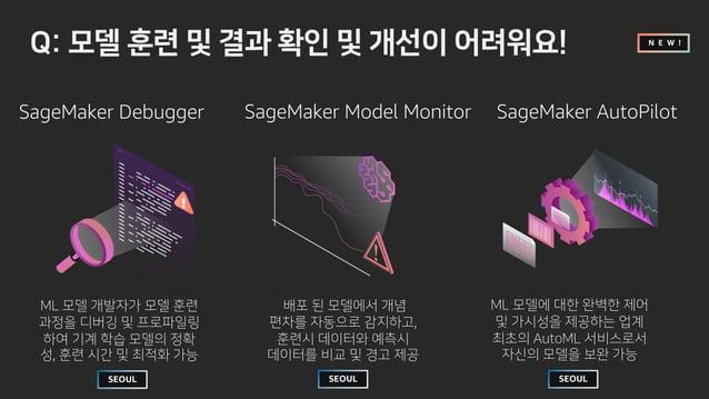 SageMaker Debugger SageMaker Model Monitor  … c % n h SageMaker AutoPilot ? … i 4 WS? … - fk b ! N E W ! ? … c … l t ri …...