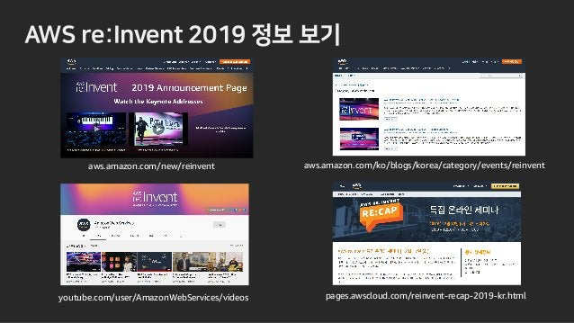 Thank you! © 2019, Amazon Web Services, Inc. or its affiliates. All rights reserved. 윤석찬 AWS 수석 테크에반젤리스트 3 NIRR R