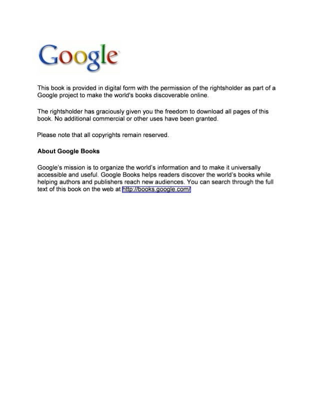 C10 i J ville:  C)  This book is provided in digital form with the permission of the rightsholder as part of a Google proj...