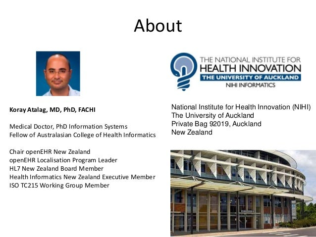 About National Institute for Health Innovation (NIHI) The University of Auckland Private Bag 92019, Auckland New Zealand K...