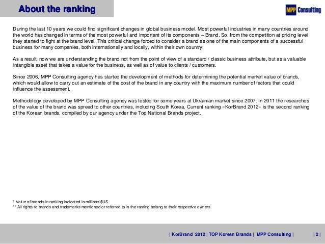 KorBrand 2012 - TOP 50 Korean Brands Slide 2