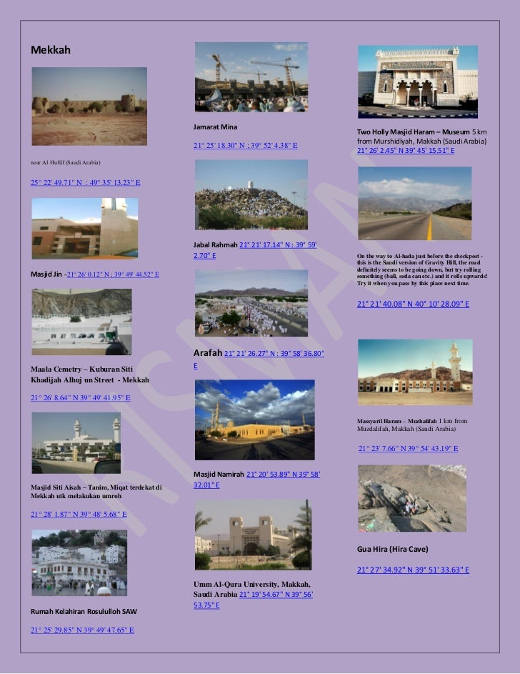 Mekkah                                                 Jamarat Mina                                                       ...