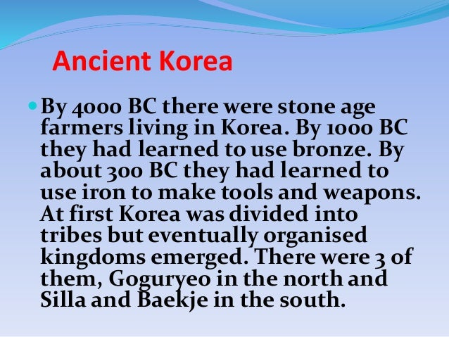 a history of korea the country of three kingdoms South korea history timeline  three kingdoms of korea dominated  south korea signed $355 billion agreement with iraq to help rebuild the country in.