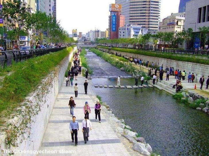 The Cheonggyecheon stream