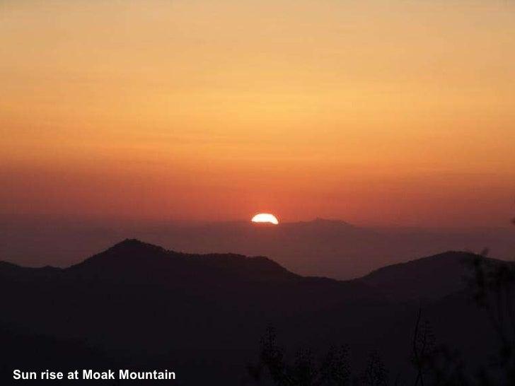 Sun rise at Moak Mountain