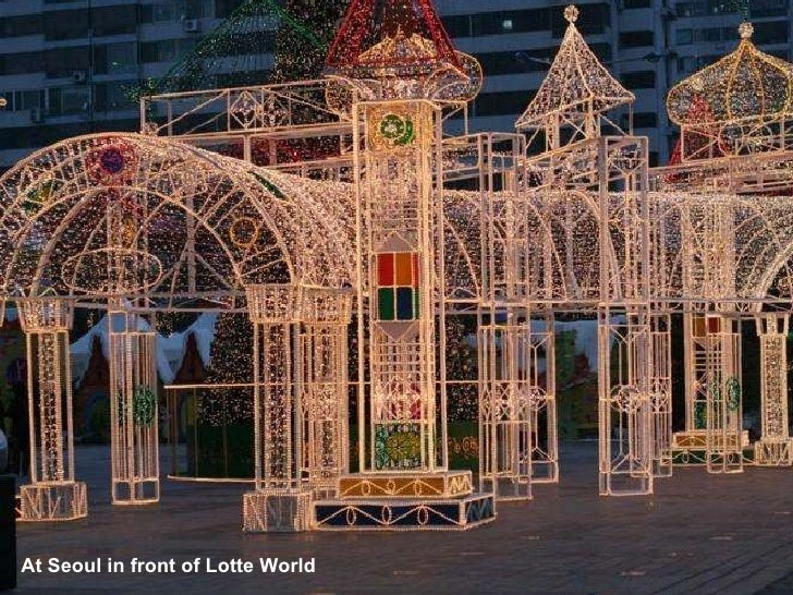 At Seoul in front of Lotte World