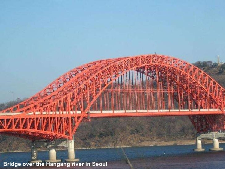 Bridge over the Hangang river in Seoul