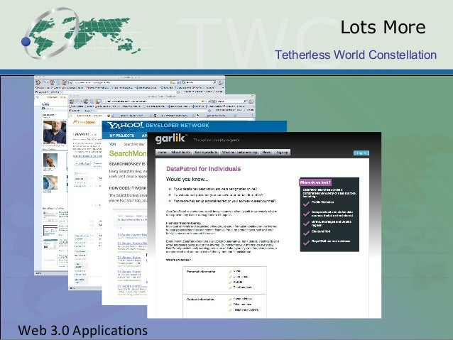 Tetherless World Constellation Web 3.0 Applications Lots More