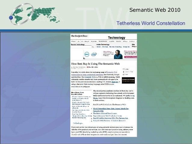Tetherless World Constellation Semantic Web 2010