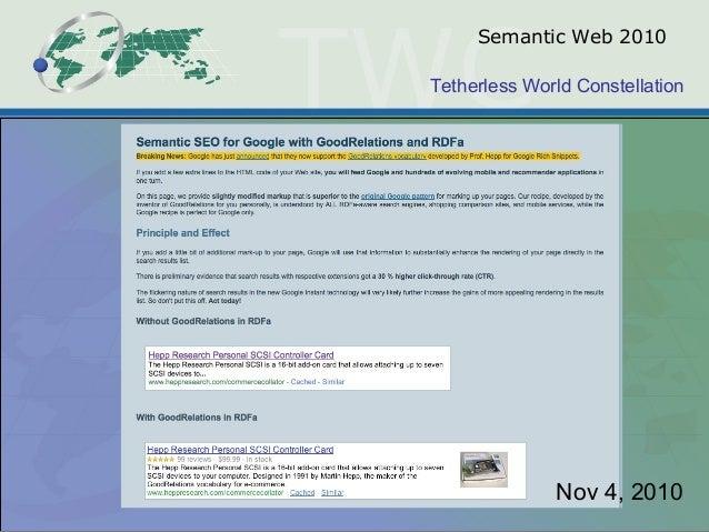 Tetherless World Constellation Semantic Web 2010 Nov 4, 2010