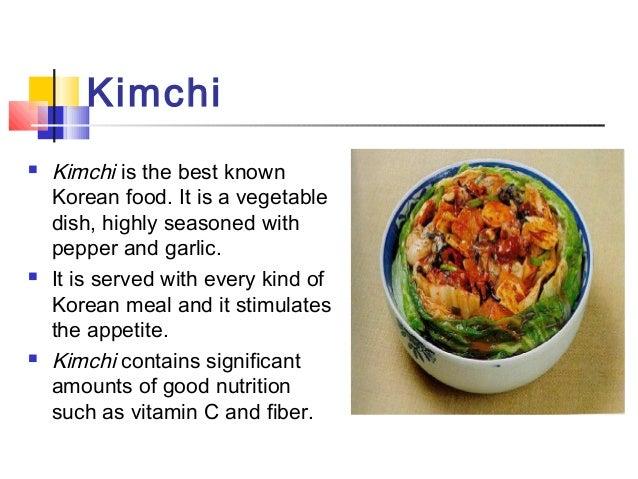 Korea ppt korean food 7 kimchi kimchi is the best known korean food forumfinder Images