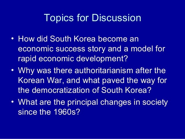 south koreas economic success North korea is on the march if we want peace, south korea's economic success is absolutely crucial.