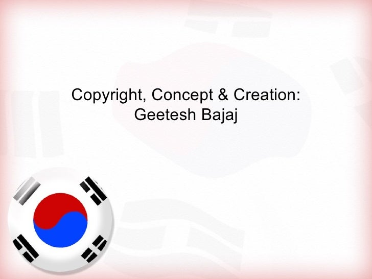 Korea south flag powerpoint presentation template free flag powerpo copyright concept creation geetesh bajaj toneelgroepblik Image collections