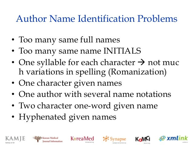 Lee Choon Shil Korean Author Names Orcid Presentation