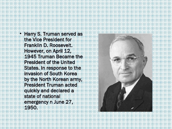 Image result for president truman declaring war in korea