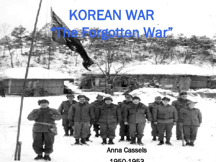 """KOREAN WAR """"The Forgotten War"""" Anna Cassels 1950-1953"""