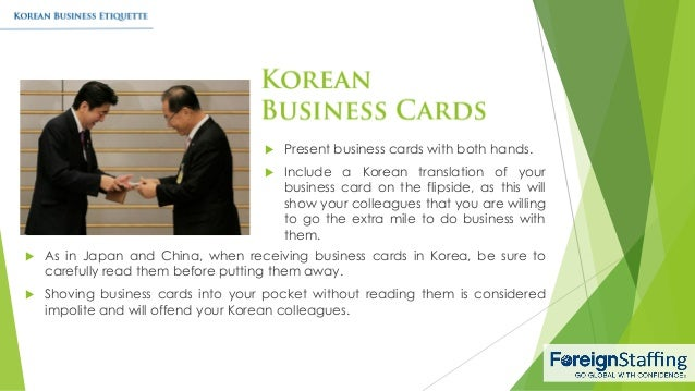 Korean business etiquette 6 present business cards reheart Images