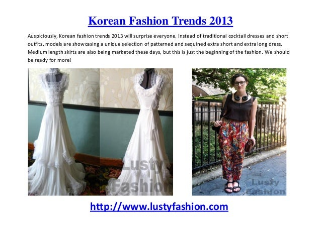 korean fashion trends for 2013