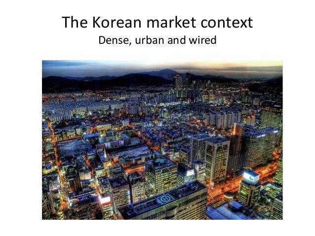 The Korean market context Dense, urban and wired