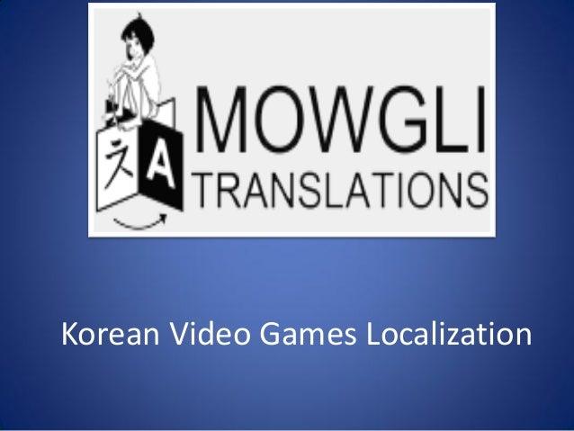 Korean Video Games Localization