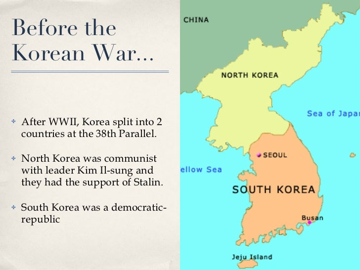the history and division of korea into north and south korea Us enters the korean north and an american-backed government in the south the division of korea into two halves had come of the north korean.