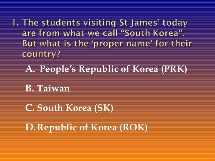 Korea quiz
