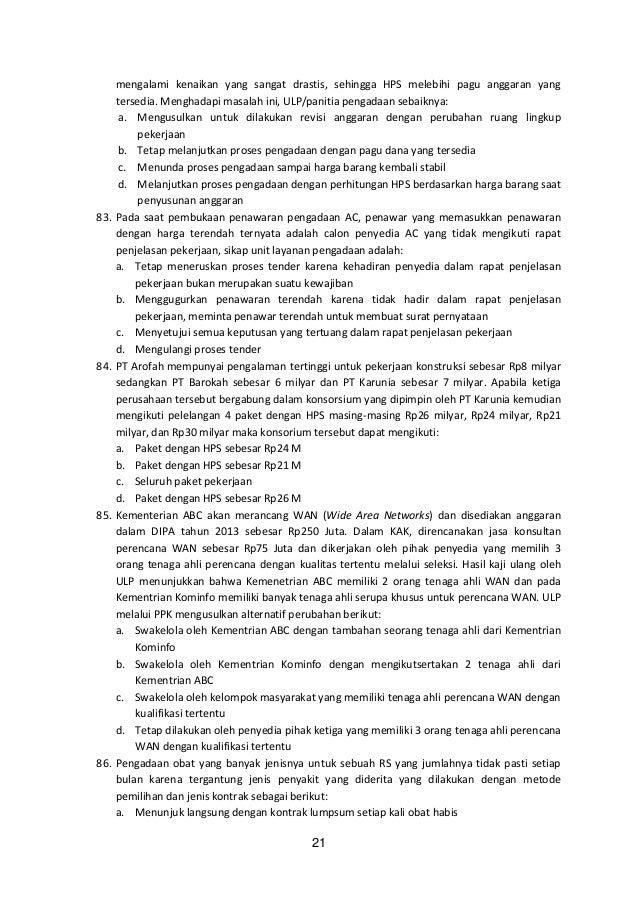 Korelasi Latihan Soal Dengan Ujian Sertifikasi Pbj
