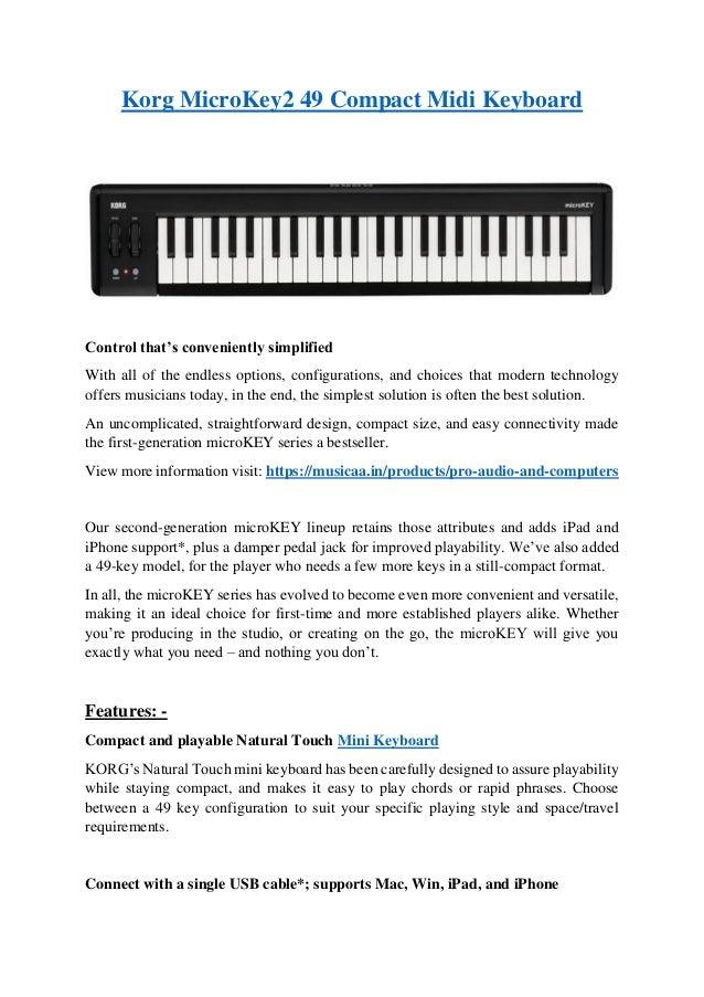 Korg MicroKey2 49 Compact Midi Keyboard