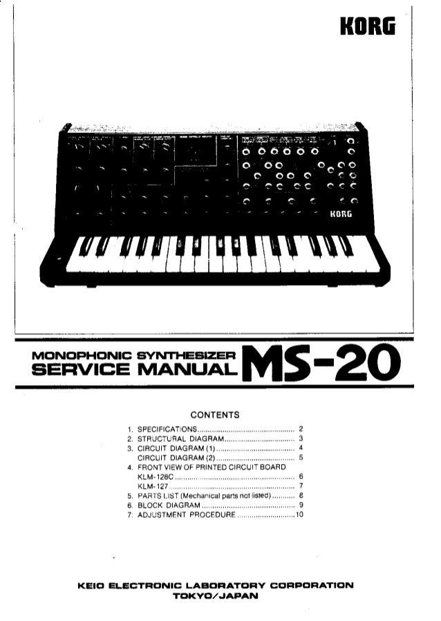 Korg ms 20 service manual