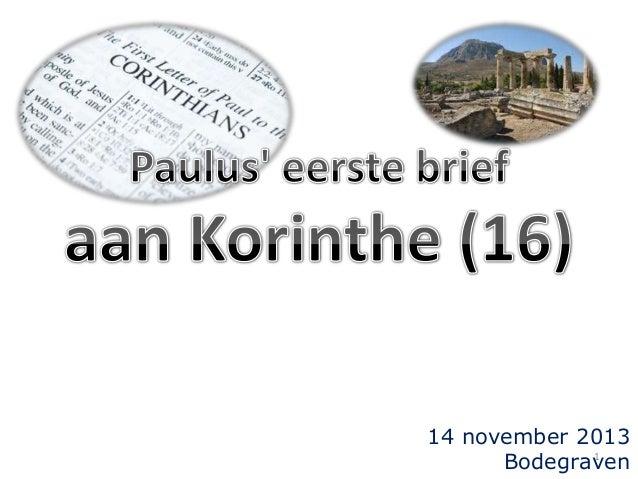 14 november 2013 1 Bodegraven