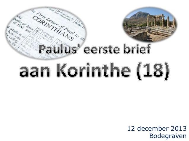 12 december 2013 1 Bodegraven