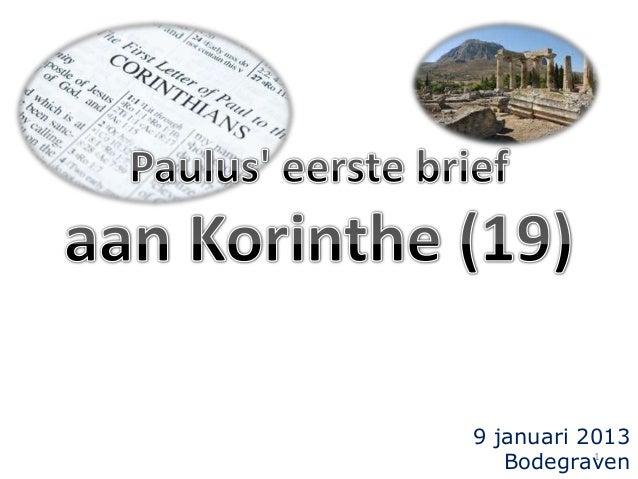 9 januari 2013 1 Bodegraven