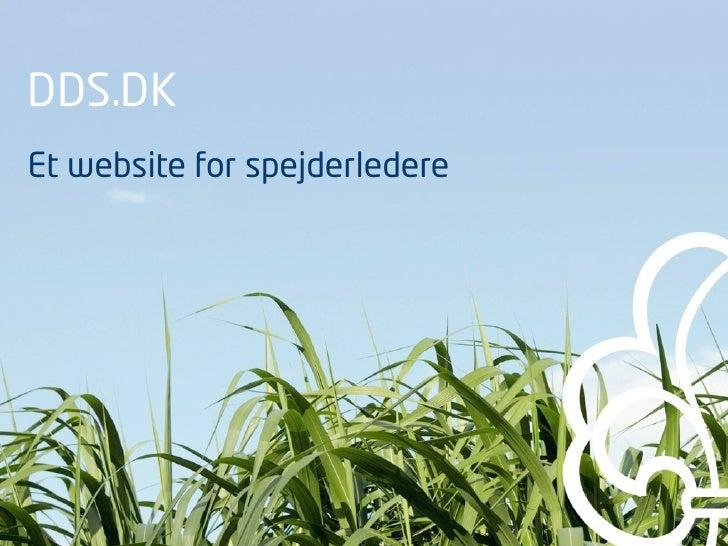 DDS.DK Et website for spejderledere