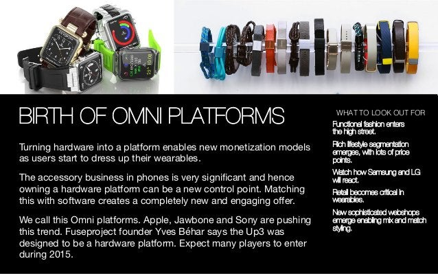 BIRTH OF OMNI PLATFORMS Turning hardware into a platform enables new monetization models as users start to dress up their ...