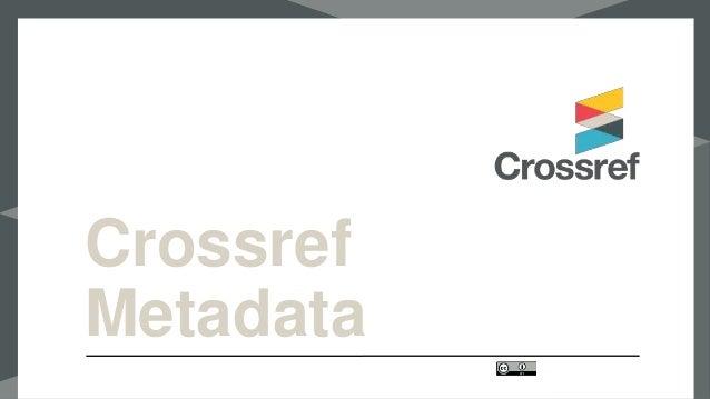 Crossref Metadata